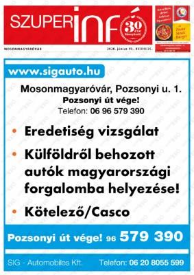 Szuperinfó Mosonmagyaróvár 28/25