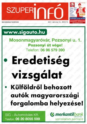 Szuperinfó Mosonmagyaróvár 29/10