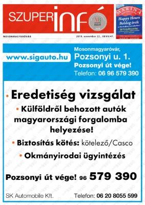 Szuperinfó Mosonmagyaróvár 27/47