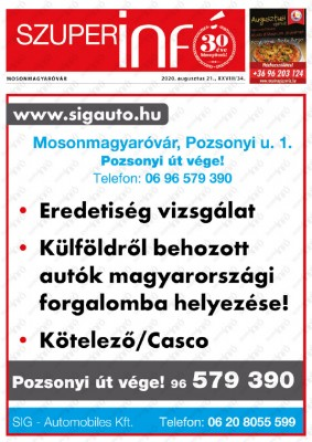 Szuperinfó Mosonmagyaróvár 28/34